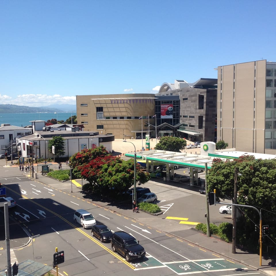 The waterfront and Te Papa (National museum) 2 minute walk away.