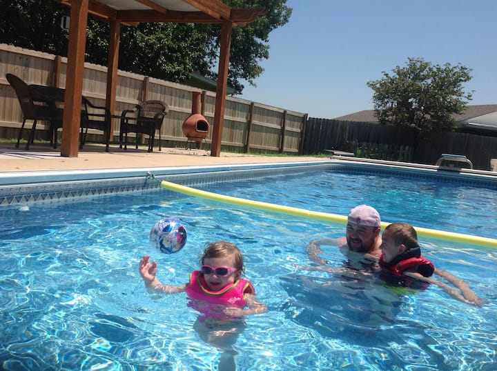 Family Pool Side Fun!