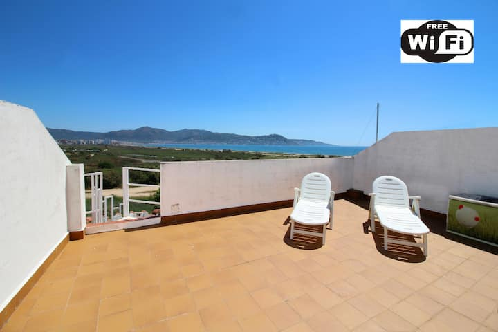 0182-PORT DUCAL AApartment with terrace, seaview and wifi