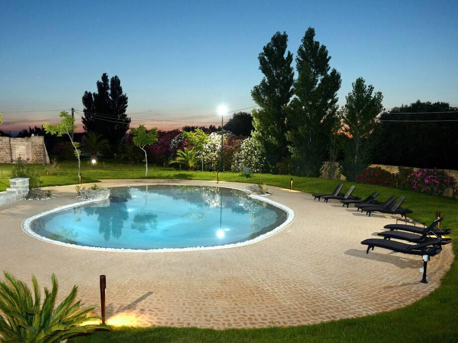 prospetto laterale piscina