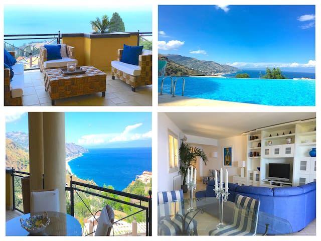 PANORAMIC RESIDENCE with Terrace Pool + View - Taormina - Byt