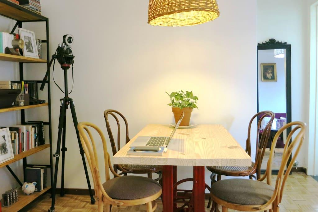Un espacio para comer o trabajar