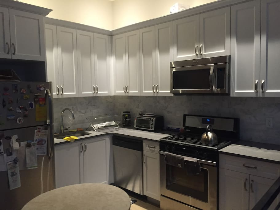 Full kitchen with ample preparation and storage space