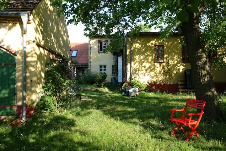 Swim, bike and relax in the Artist House Oderbruch - Seelow - Casa