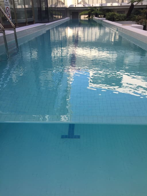Lap pool is a nice temperature all year round