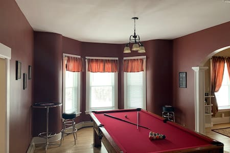 Village Flat with Antique Billiards