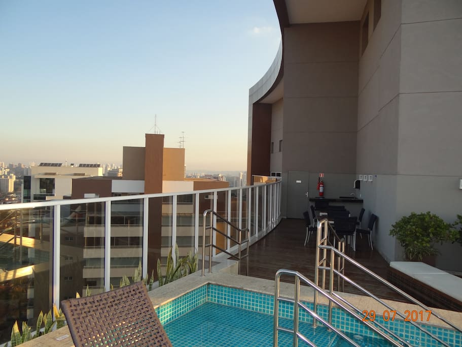 Another view from Rooftop Pool Overlooking Sao Paulo