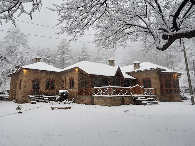 Poonch House in winter