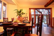 A view of the Conservatory from the kitchen dining table.