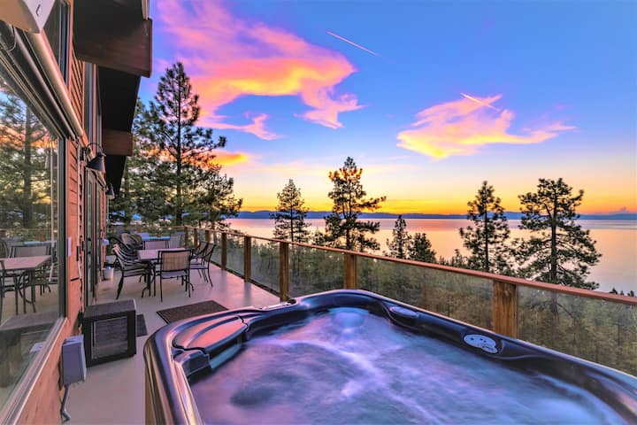 LAKEVIEW JEWEL OF THE SIERRA with POOL TABLE, HOT TUB AND THEATER: LX10