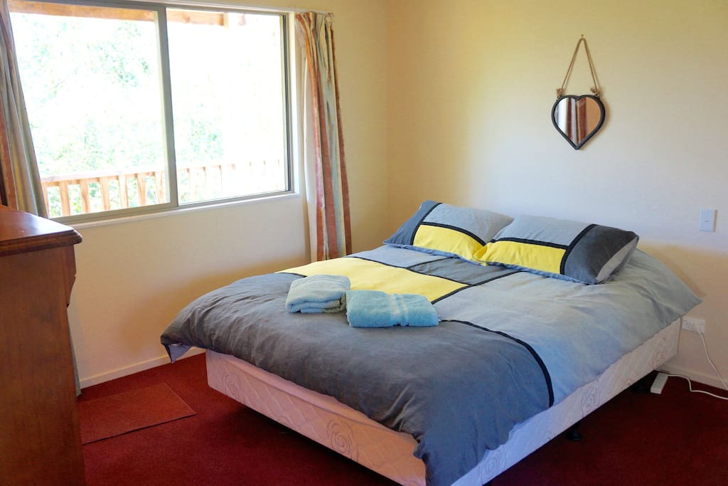 Separate bedroom with excellent mattress