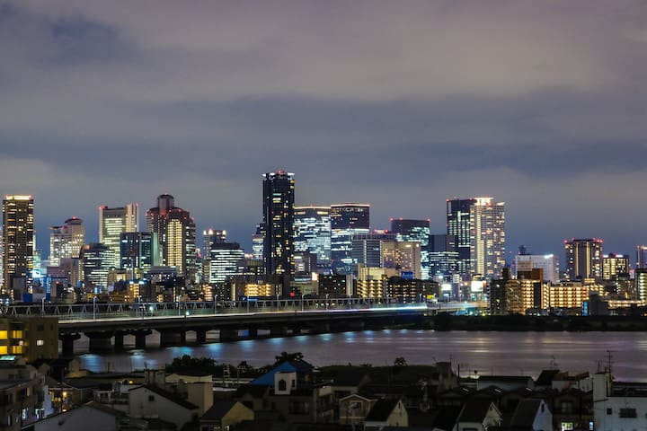 Sky view Cozy 2BD House/3min Osaka St. by train.