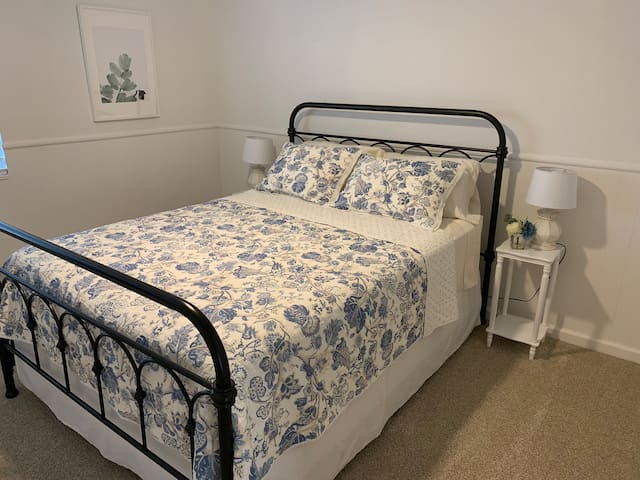 """Bedroom #3 has Queen bed and 48"""" smart TV."""