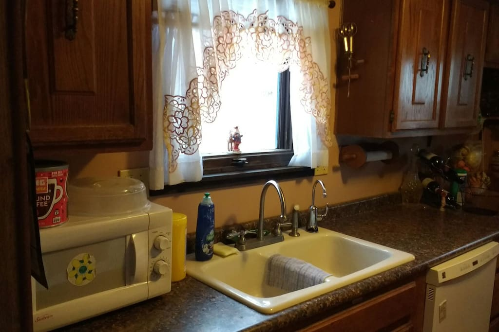 Our kitchen. If you want to cook, we have pretty much anything you might need, and a grocery store just minutes away.