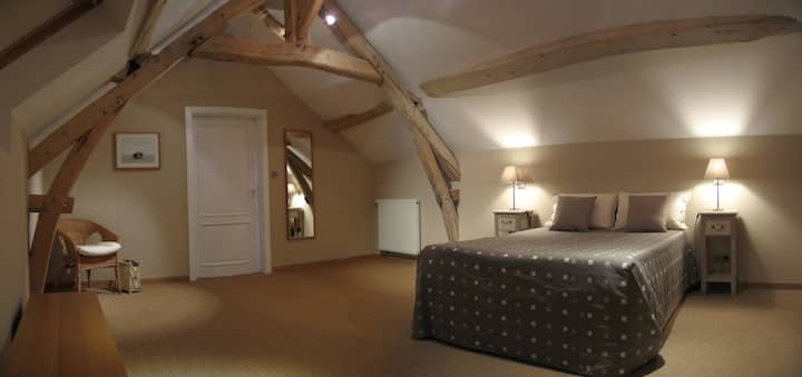Double attic room with vineyard view