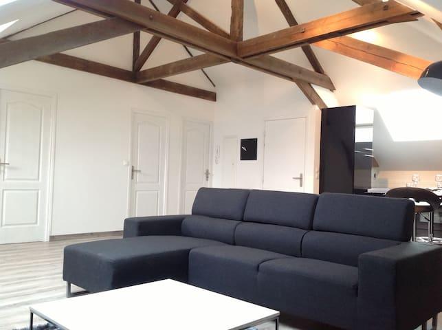 Loft T3 90m2 maison de maître - Aulnoy-Lez-Valenciennes - Apartamento