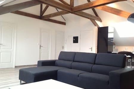 Loft T3 90m2 maison de maître - Aulnoy-Lez-Valenciennes - Apartmen