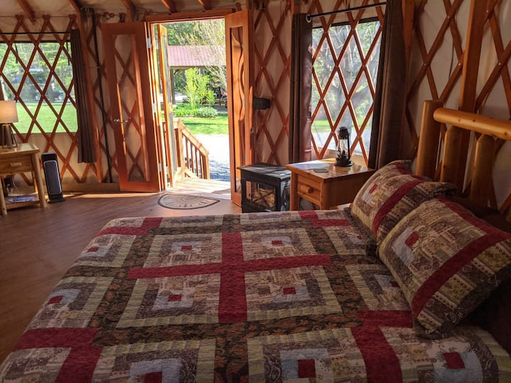 Glamping:  Estes Yurt in Marion, North Carolina