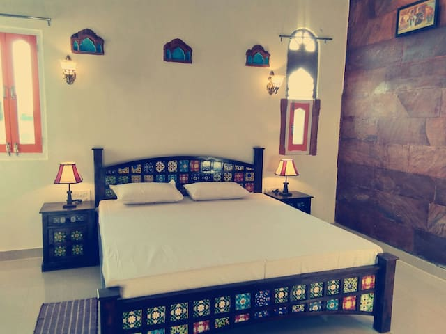 Boutique hotel in blue city