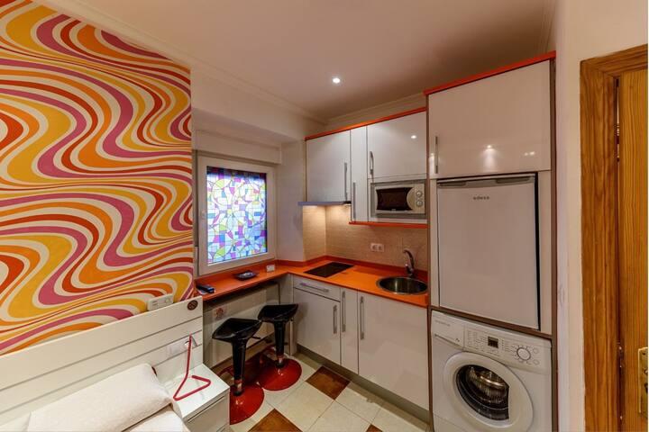 Habitación Doble con cocina y baño privado