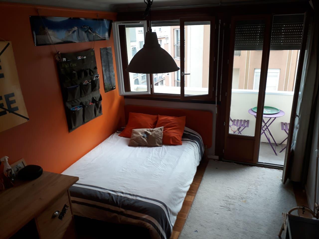 Chambre cosy balcon privatif
