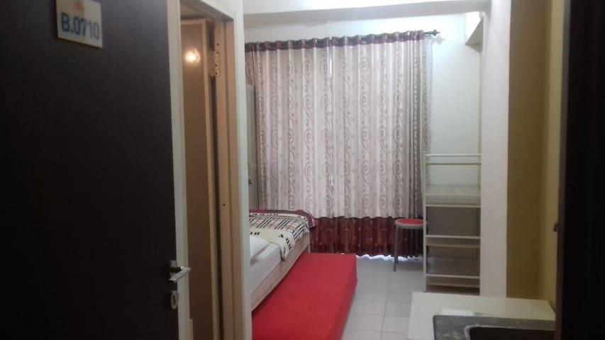 apartemen studio semi furnished, jarrdin bandung