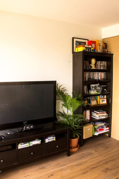 Lounge Room - very large TV featuring Xbox One, Netflix, Stan, audio jack, HDMI and HDMI to Mini Displayport for Macbook Pro connectivity.
