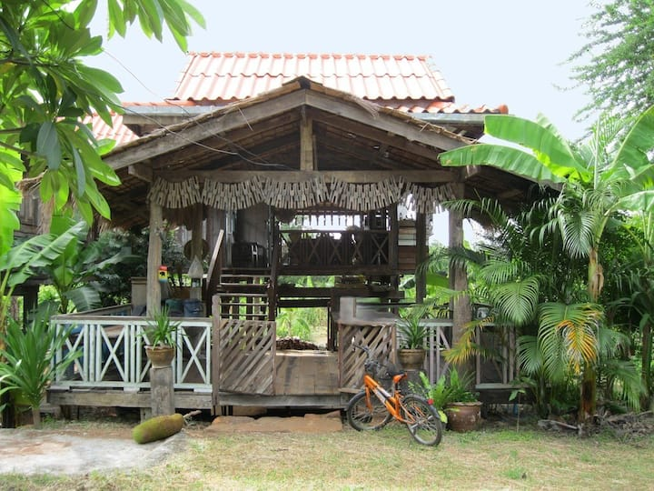 Traditional Thai village house
