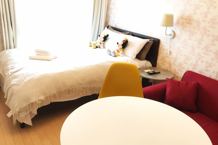 9min DisneyResort★JR Shiomi Sta Sweet Room#74
