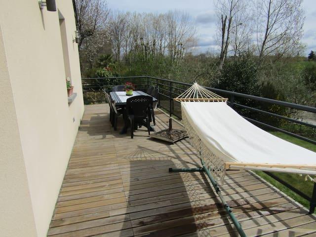 duplex terrasse  campagne mer - Plouër-sur-Rance - House