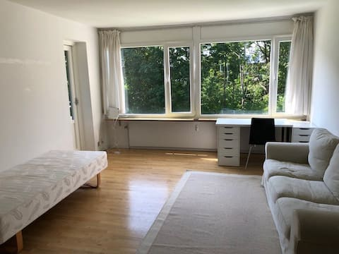 Fully furnished room with a big balcony