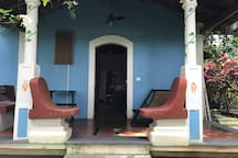 The traditional 'sopo' in the verandah of Little Xanti welcomes visitors