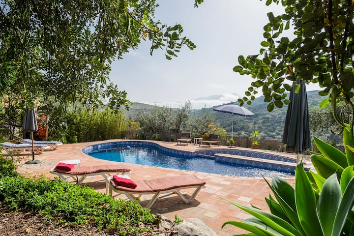 Cosy rustic cottage in beautiful Andalucia. Pool - Cútar - Apartamento