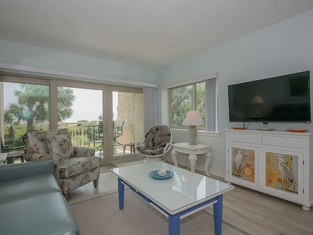 A delightful 3 bedroom/3 bath oceanfront villa with beautiful views of the beach and the ocean