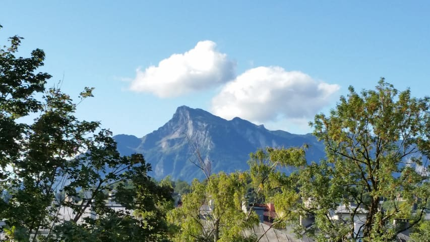 Blick nach Süden zum Untersberg