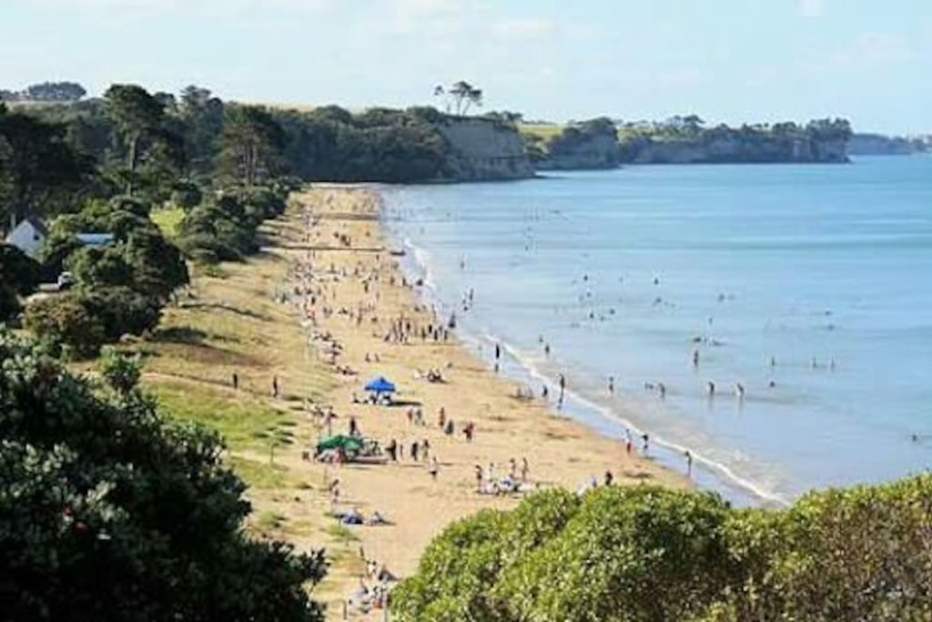 Long Bay Beach in the summer
