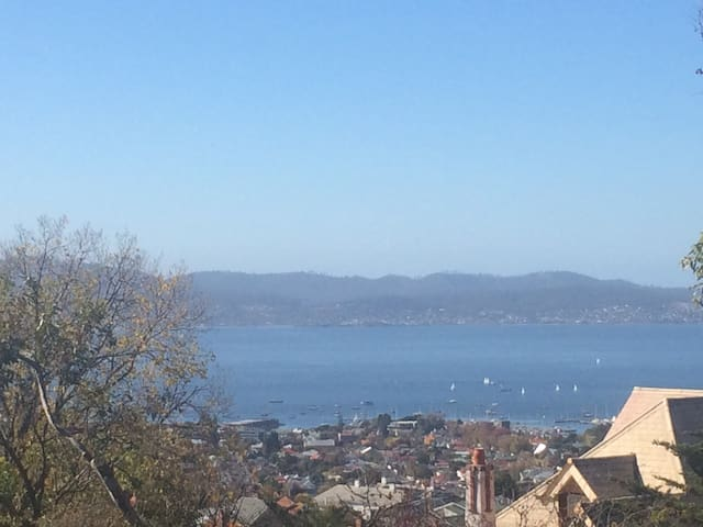 Two bdrm unit in hip South Hobart - superb views - South Hobart - Lägenhet