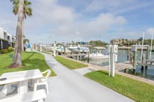 This is the walkway that goes around the Madeira Beach Yacht Club property.
