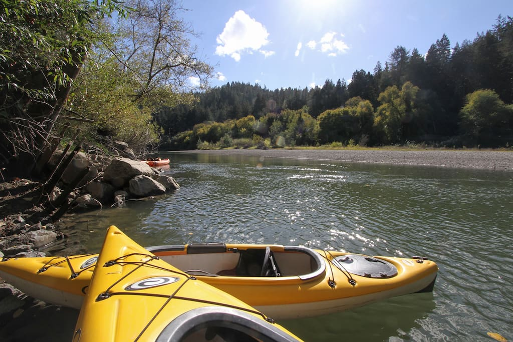 Two single kayaks and one double kayak available