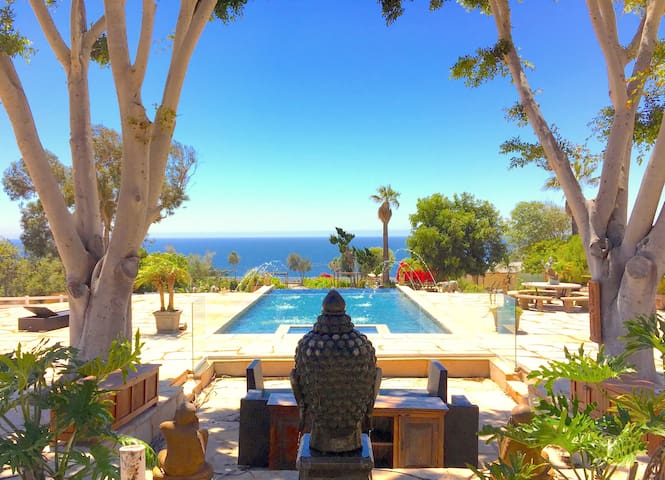 Six-Acre Ocean View Malibu Estate w/ Infinity Pool