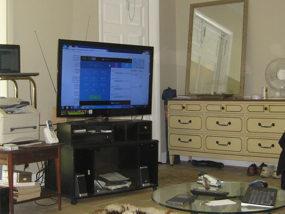 big screen tv with computer