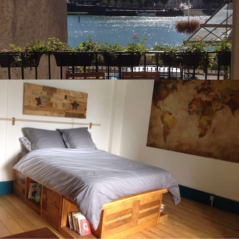 chambre sur les quais de Saône - Saint-Jean-de-Losne - Apartment