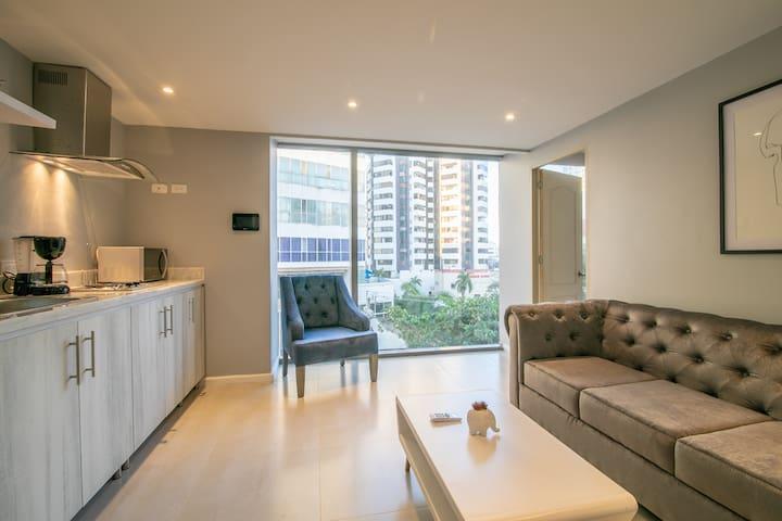 Brand New 1 BR Apartment in Bocagrande