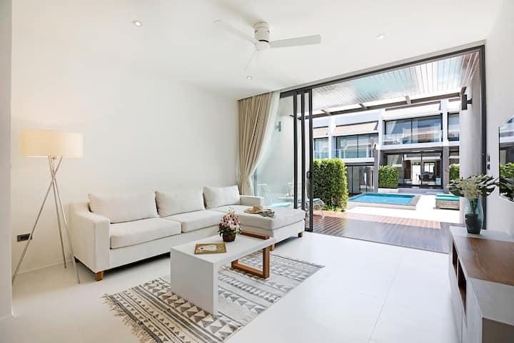 Choeng mon Modern 2BR  Villa (walk to the beach)