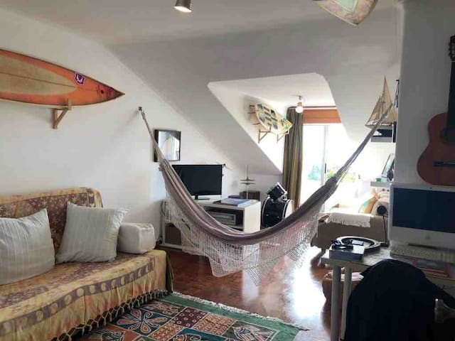 Room or living room with an inside hammock...