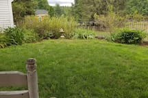 Private yard with view of farm yard and animals
