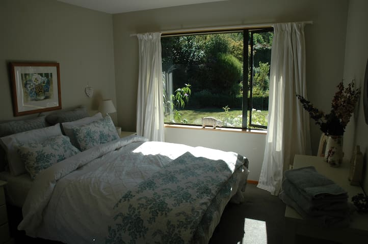 Large bedroom with lovely views