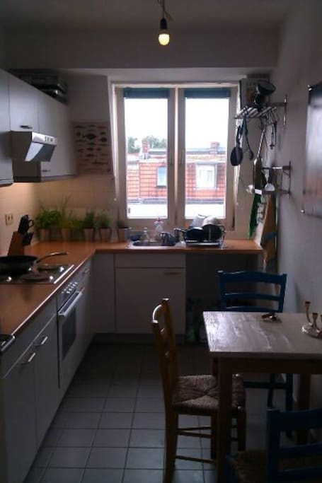 The kitchen that you share with two amazing flatmates.