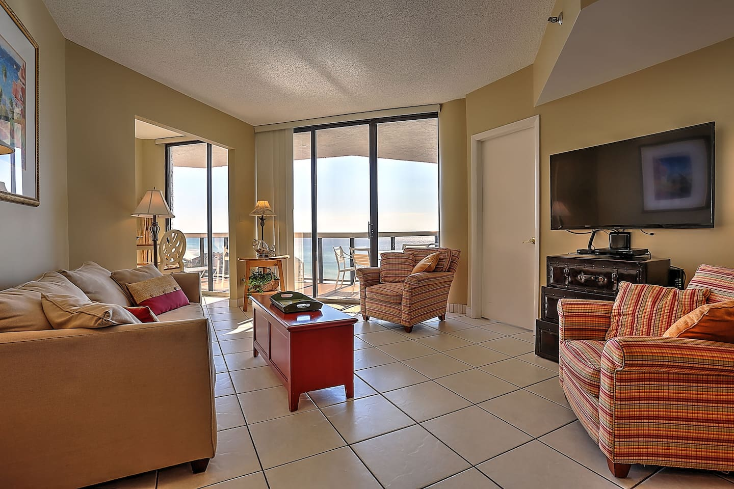 Wonderful views from every room.  Large living space includes sleeper sofa, flat screen with streaming capabilities via smart bluetooth player, and large dining room table.
