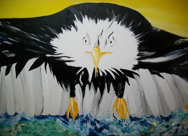 Une de mes créations! Vous pouvez peindre avec moi lors de vos vacances!